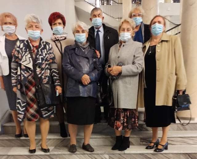 Przedstawiciele Powiatowej Rady Seniorów wTeatrze Wielkim wŁodzi